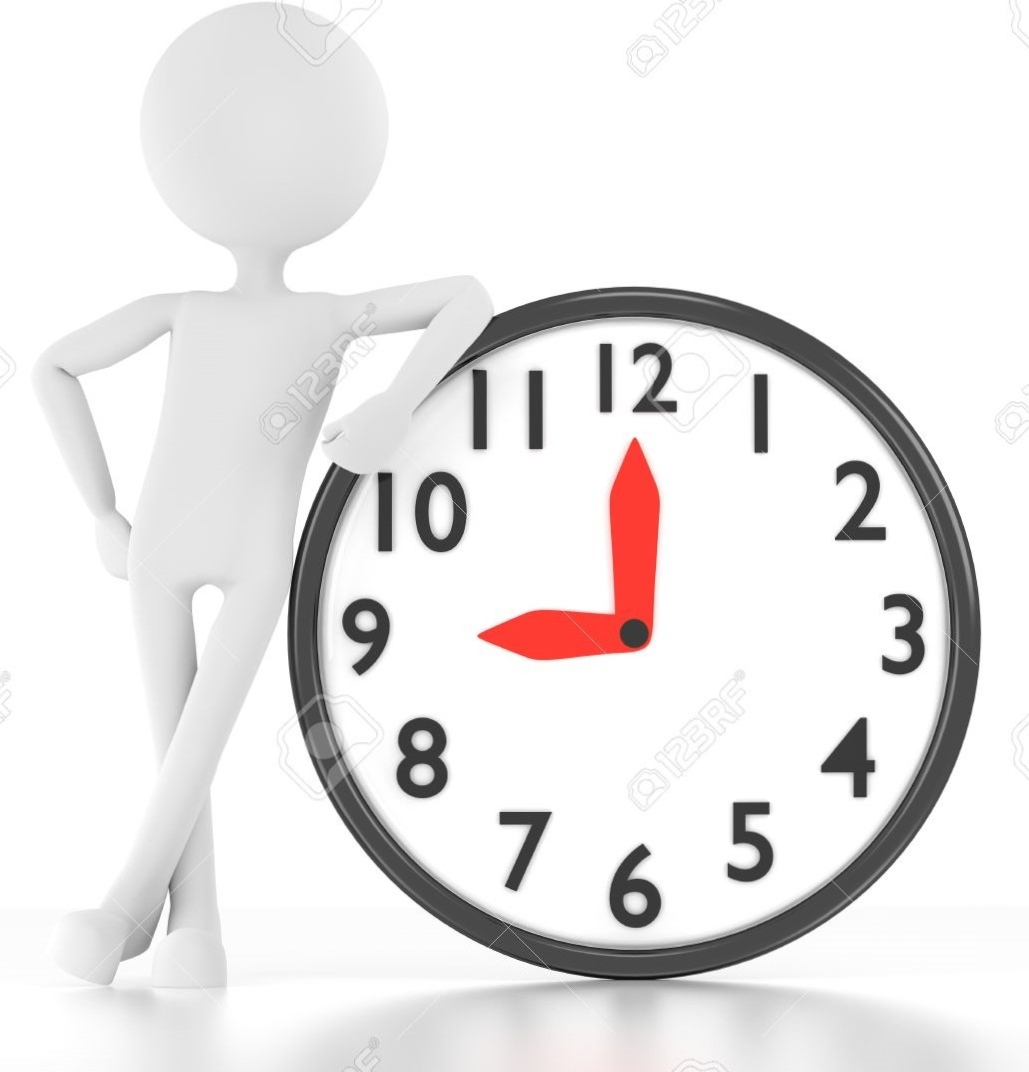 14854847-3d-person-leans-on-clock-that-says-9-00-Stock-Photo (2)
